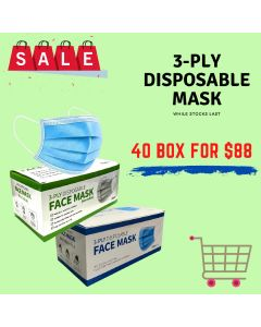 3-PLY Disposable Mask 40 BOXES