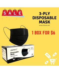 3-PLY Disposable Mask BLACK