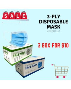 3-PLY Disposable Mask 3 BOXES
