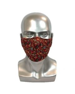Batik Maroon Adult Reusable Mask