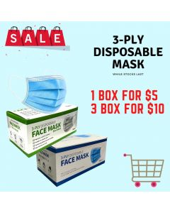 3-PLY Disposable Mask Buy 2 get 1 Free